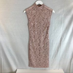 NWT Windsor Sequined Lace Dress L